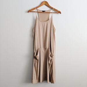 Theory Blush Pink Silk Pocket Dress Size 8